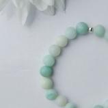 buy 8512  Гривна от Амазонит с 925 Сребърни елементи in Bazarino